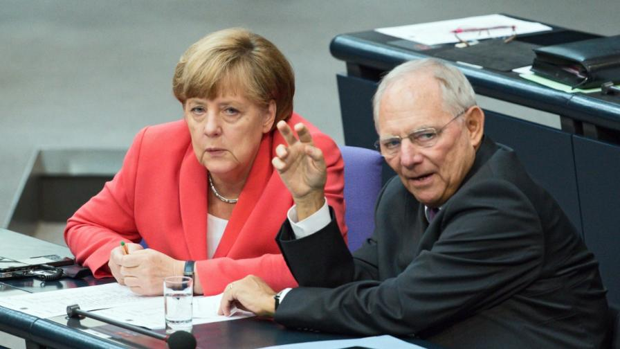 Ангела Меркел и Волфганг Шойбле в Бундестага