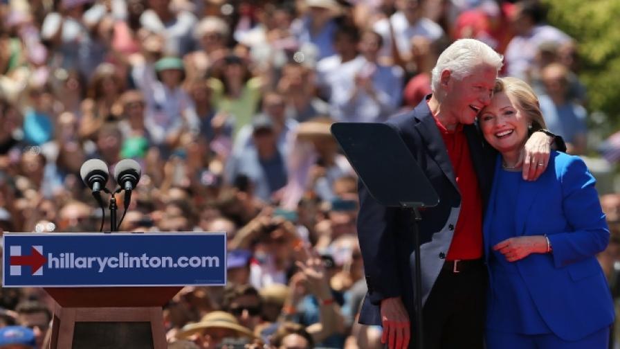 Хилари и Бил Клинтън спечелили 141 млн. $ за 8 години