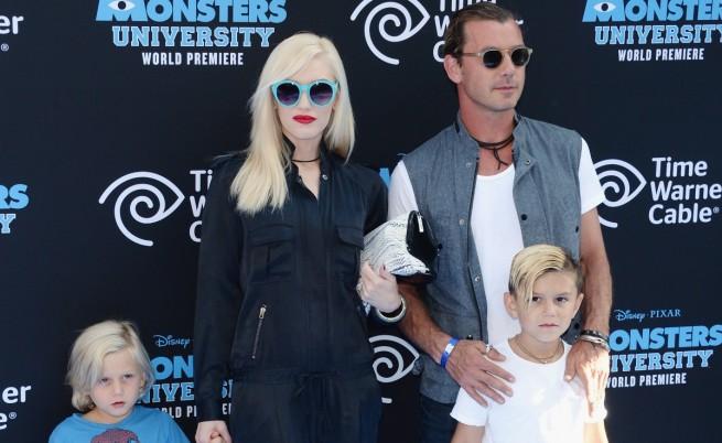 Гуен Стефани и Гавин Росдейл с две от децата си