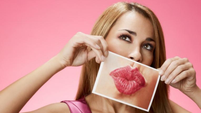 жена устни