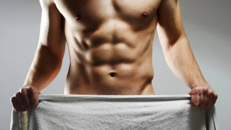 мъж гол плочки мускули