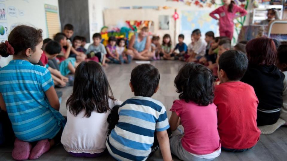 Класната стая на децата бежанци