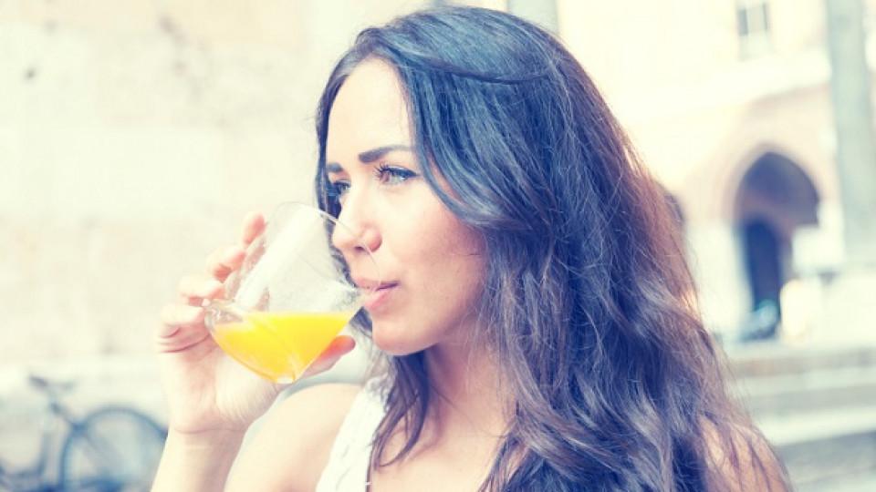Портокаловият сок е рекордьор по съдържание на калций