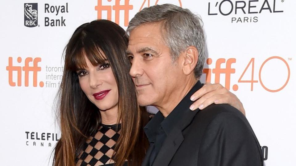 Сандра Бълок и Джордж Клуни
