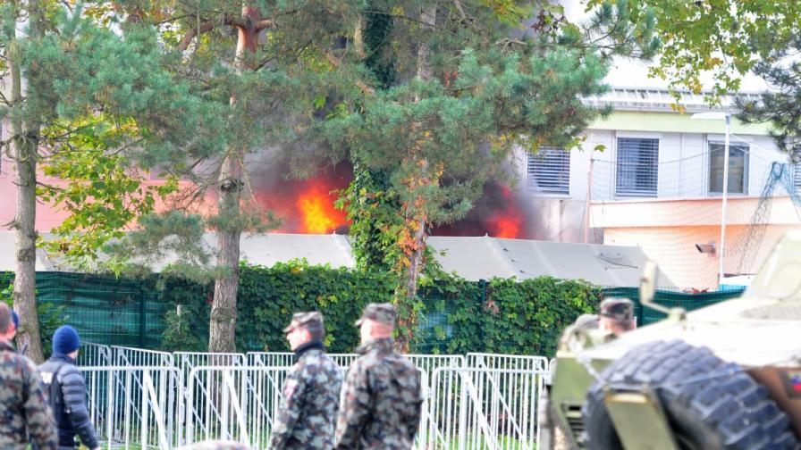 Пожарът в лагера в Брежица, Словения