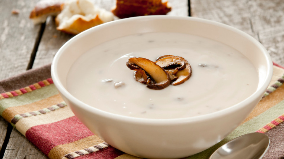 Гъбена супа с праз