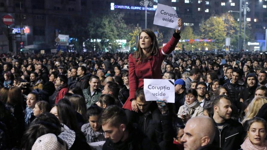 Протестът в Румъния