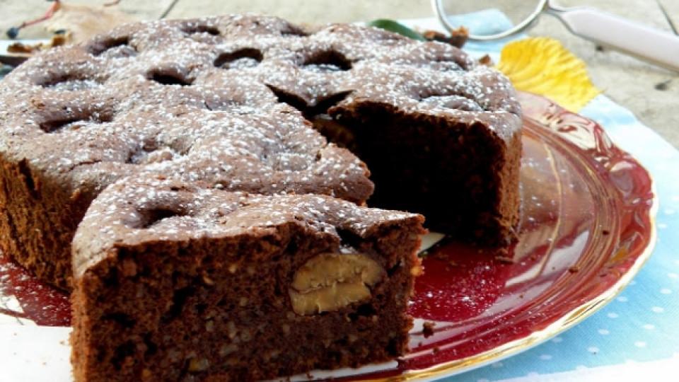 Кекс с кестени и шоколад