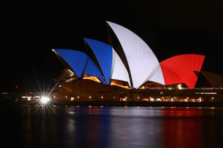 френски флаг сгради