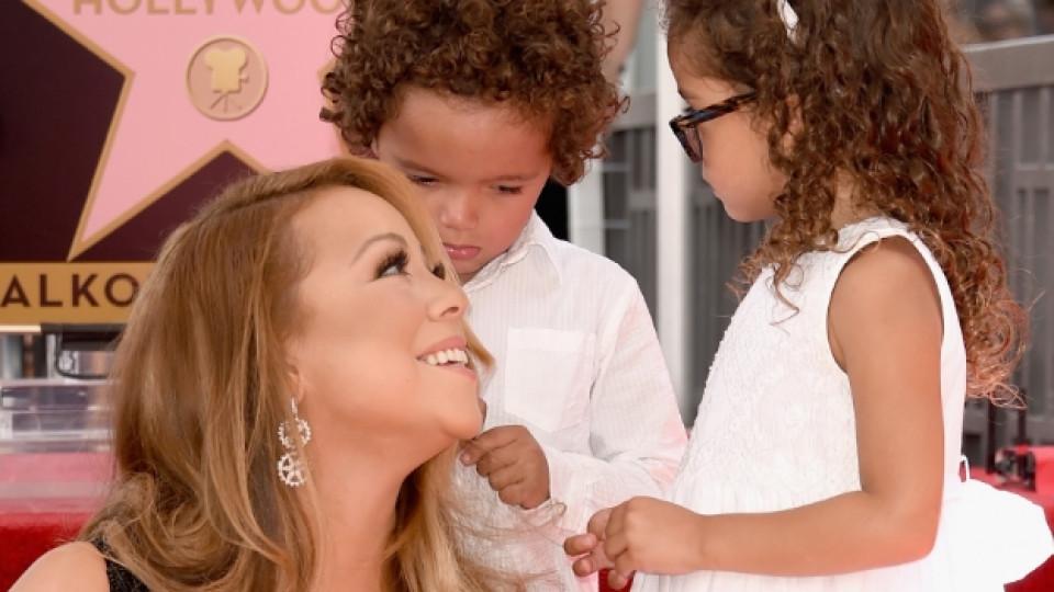 Марая Кери с децата си Марокан и Монро