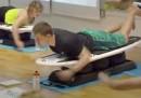 Последната фитнес мода: Сърфиране на сухо (видео)