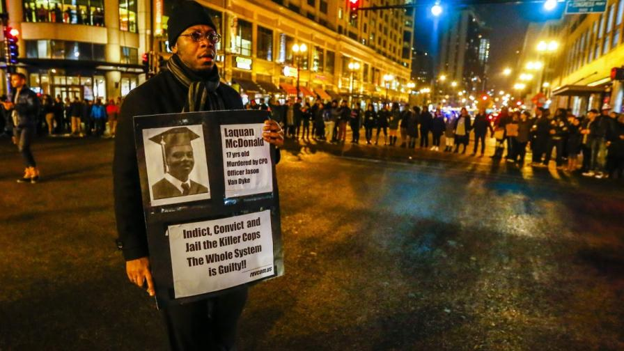 Протестът в Чикаго