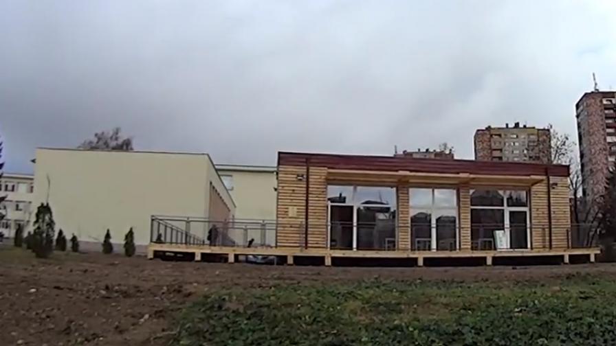 Така изглежда първата еко класна стая в Казанлък