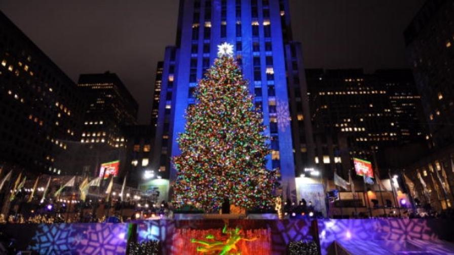 45 хил. лампички грейнаха на елхата в Ню Йорк