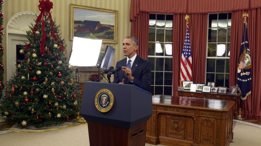 Барак Обама прави обръщението си към американската нация