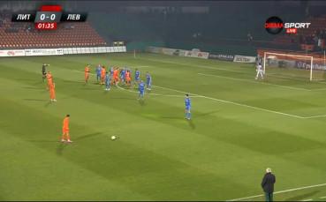 ВИДЕО: Литекс - Левски 0:0 /Първо полувреме/, 1/4-финал, Купа на България