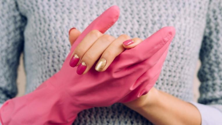 домакиня ръкавици маникюр