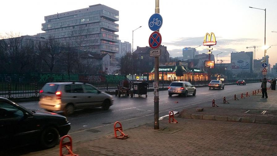 Кон задръсти столичен булевард