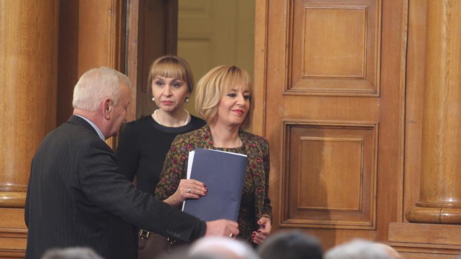 Мая Николова и Диана Ковачева в НС