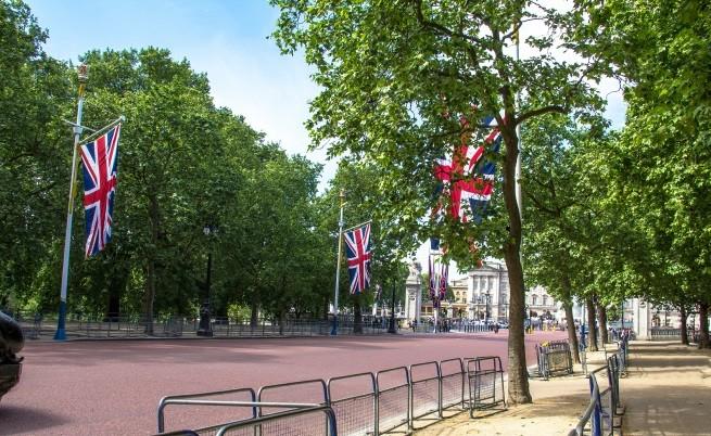 Улицата пред Бъкингамския дворец