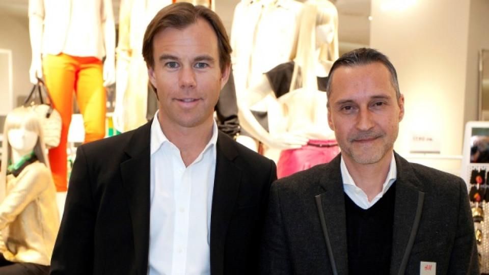 Снимка за спомен: Карл-Йохан Персон (вляво) и Ралф Вайн
