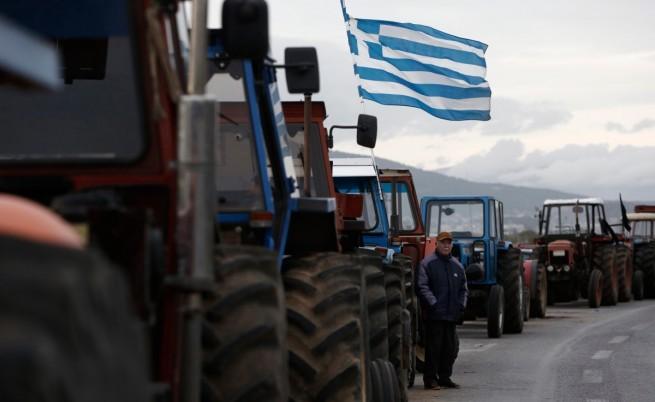 Протест на гръците фермери