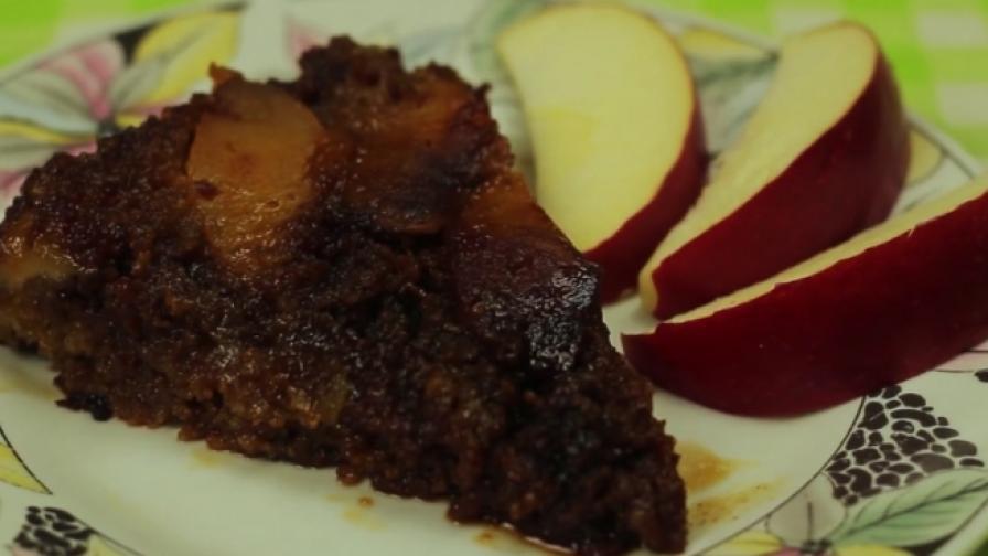 Вкусно и лесно: Обърнат сладкиш с ябълки