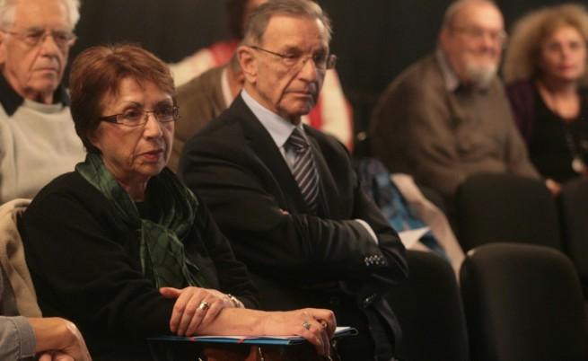 Йордан Соколов присъства на Национален граждански форум Българка, организиран на 18 ноември 2015 година. До него е Евдокия Манева