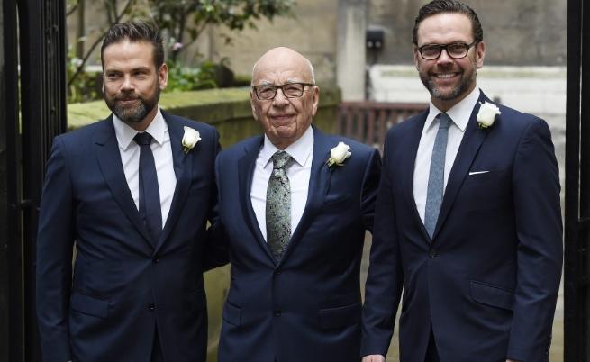 Рупърт Мърдок с двамата си синове