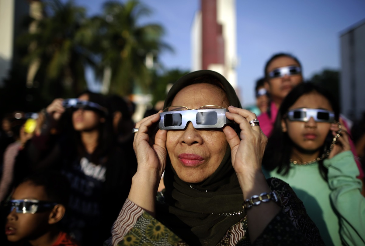 Слънчево затъмнение в Индонезия