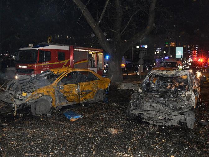 37 станаха жертвите при атентата в Анкара, извършен вчера. Един или двама от тях са терористите от колата-бомба, която се взриви в центъра на турската столица. 125 са ранените.