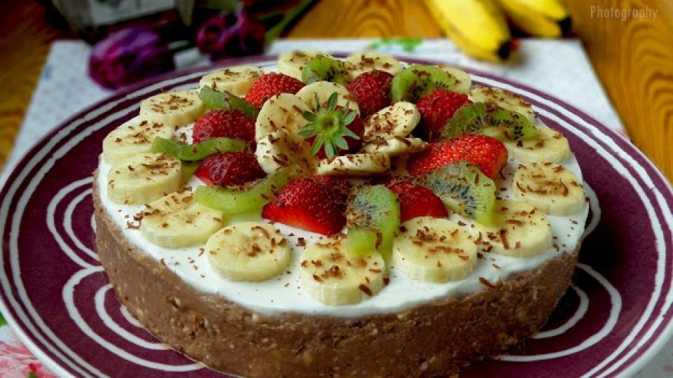 Домашна бисквитена торта без печене