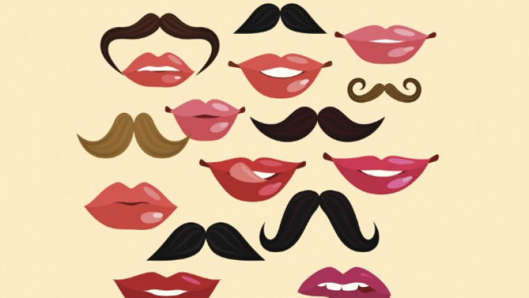 устни мустаци