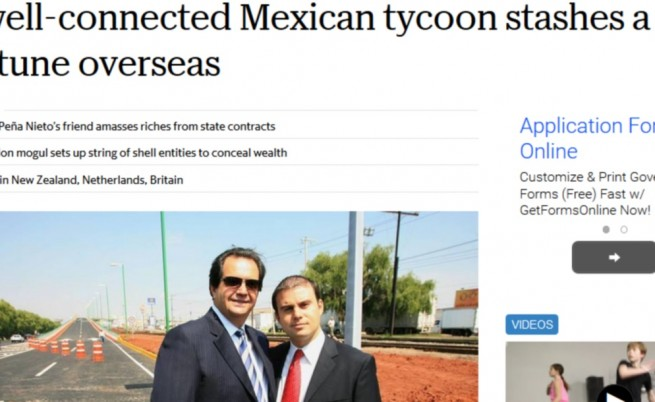 Факсимиле от публикацията в мексиканското издание