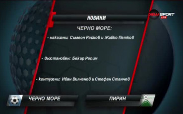 Ужасната серия на Черно море в А група