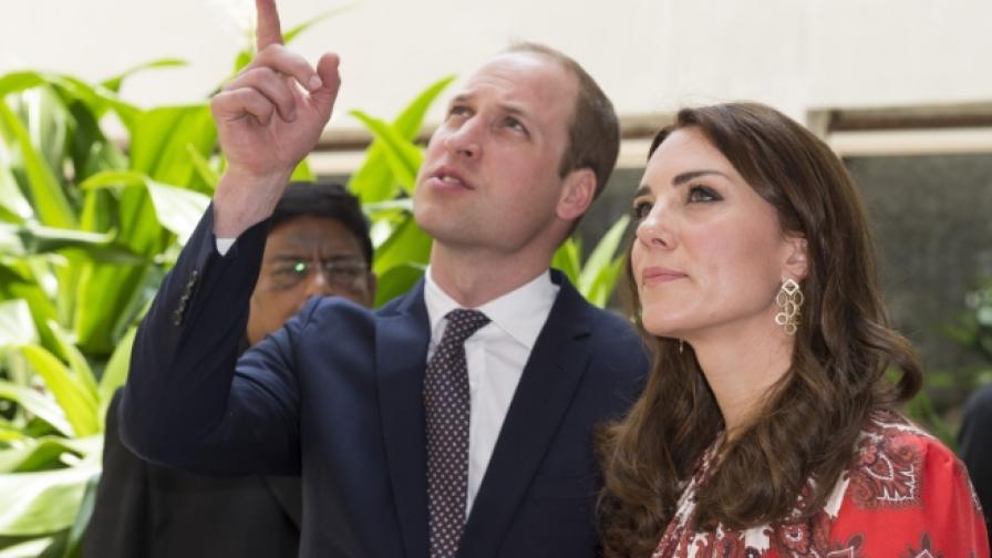 Принц Уилям и херцогиня Катрин пристигнаха в Индия