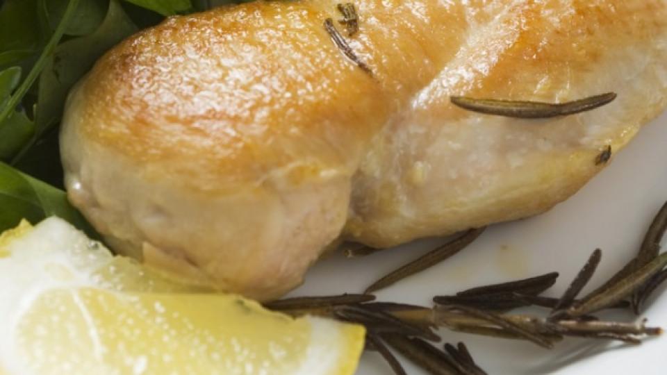 Пиле с лимон и каперси