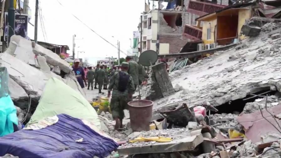 350 жертви в Еквадор, ЕС отпусна 1 млн. евро помощ