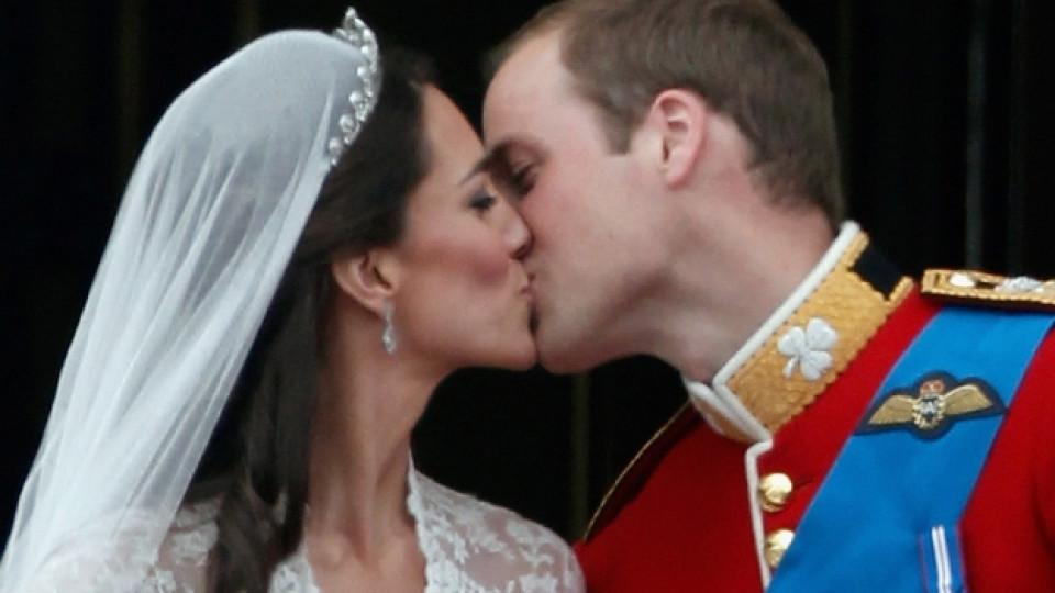 Принц Уилям и Кейт в деня на сватбата им