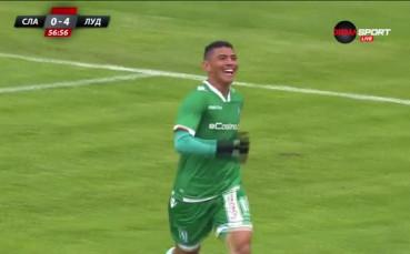 Вторият гол на Жуниор Кишада за Лудогорец срещу Славия