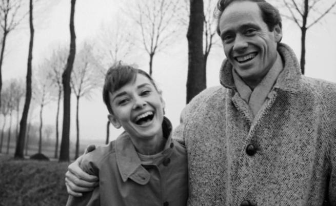 Одри Хепбърн с първия си съпруг - актьорът Мел Ферер