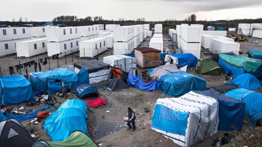 Бежанският лагер в Кале, Франция