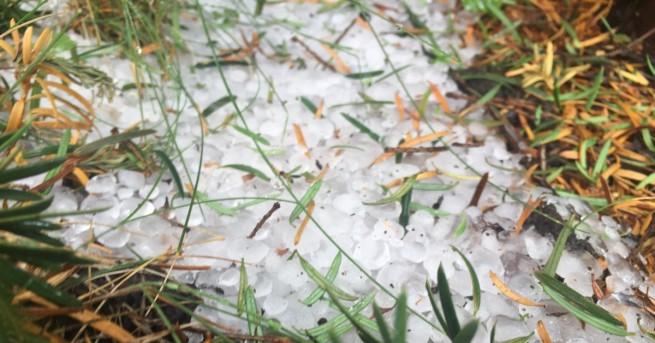 България Градушка удари Кюстендил, потоп в Смолян Поройният дъжд, придружен