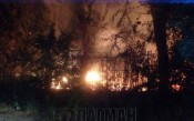 Огромен пожар избухна на стадион Черноморец