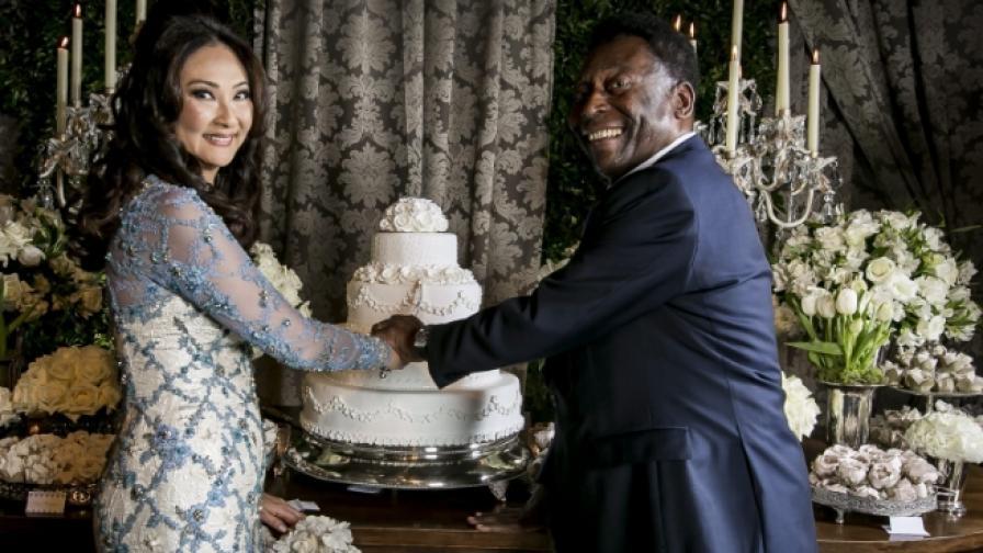 На 75 г. Пеле се ожени за трети път