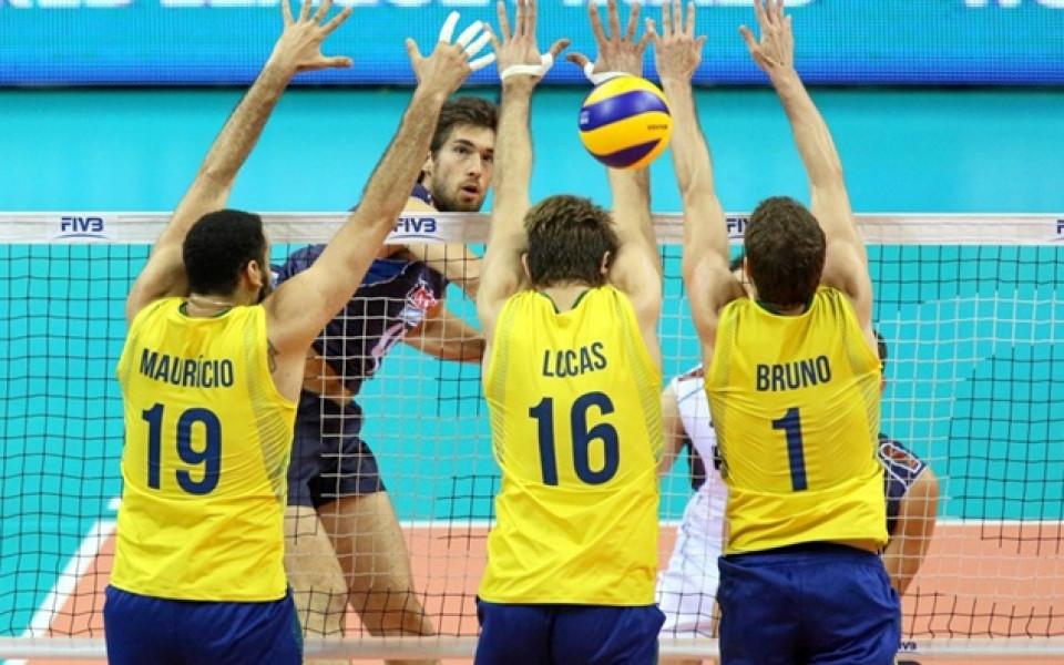 Бразилия започна с победа във финалите на Световната лига