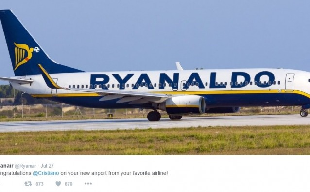 <strong> източник: twitter.com/Ryanair</strong>