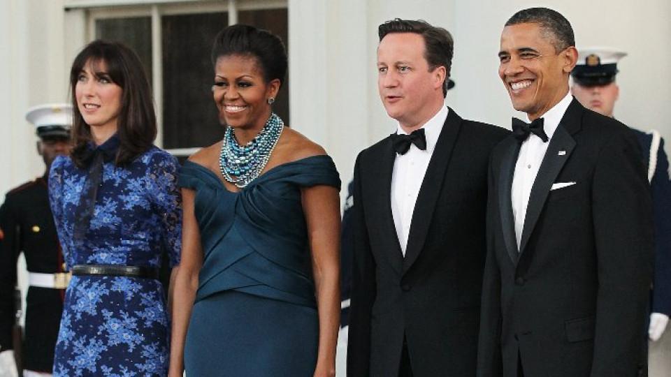 Президентът на САЩ заедно със съпругата си в компанията на премиерa на Великобритания и неговата жена