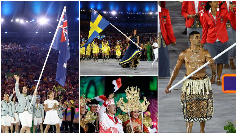 Как бяха облечени спортистите от различните държави на откриването на Олимпиадата