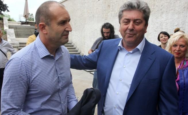 Генерал Румен Радев и лидерът на АБВ Георги Първанов